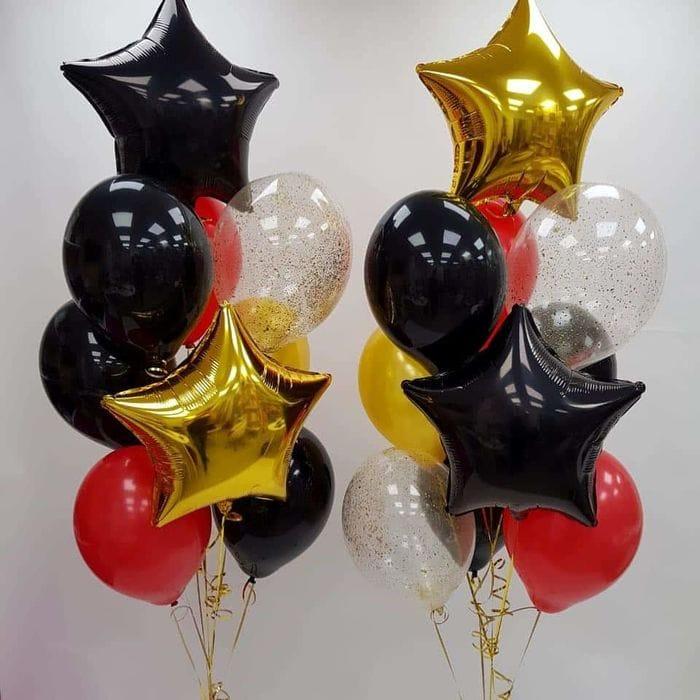 Гелиевые шары композиция из 2 фонтанов