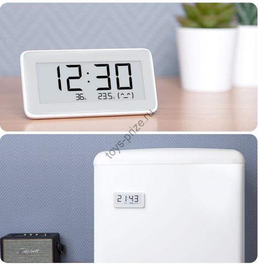 Настольные часы Xiaomi Mijia на E Ink с датчиком температуры и влажности