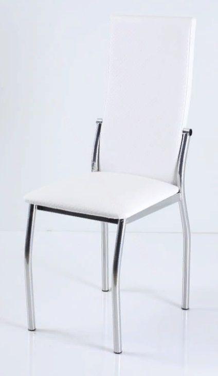 "Кухонный стул ""B-610"" белый капитон/хром"