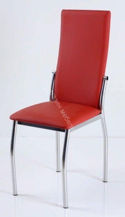 """Кухонный стул """"B-610"""" красный кожзам/хром"""