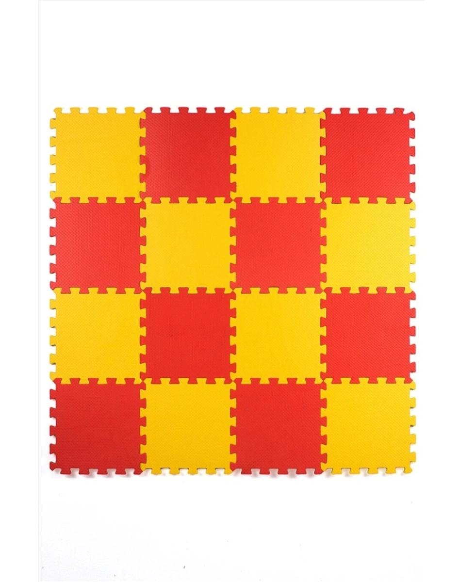 Мягкий пол универсальный 25*25 (см), Желто-красный, 16 дет.