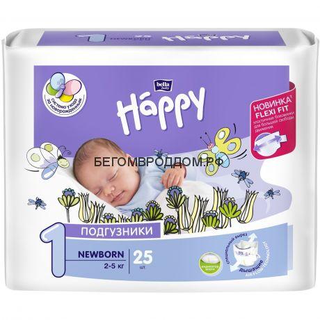 Подгузники для новорожденных Bella baby Newborn (2-5 кг) 25 шт.