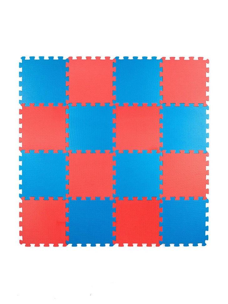 Мягкий пол универсальный 25*25 (см), Красно-синий, 16 дет.