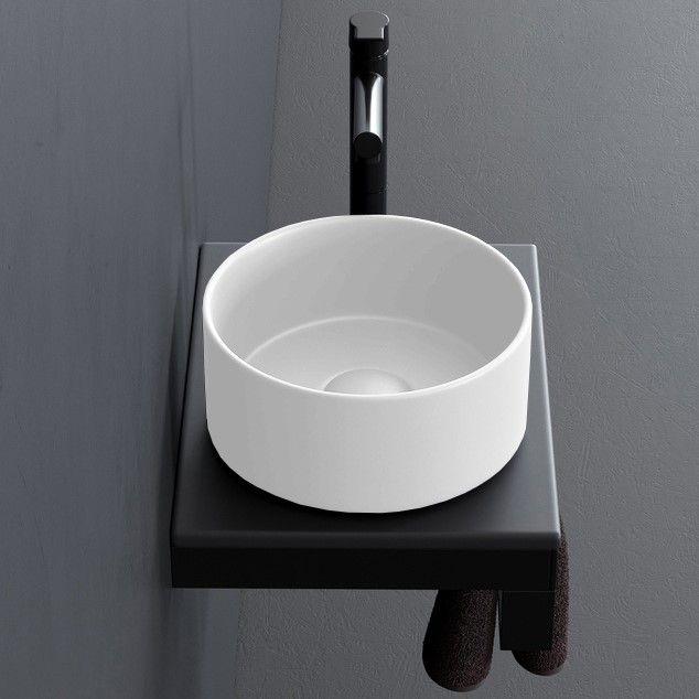 Накладная раковина Cielo Shui Comfort MILAT круглая 25х25 ФОТО