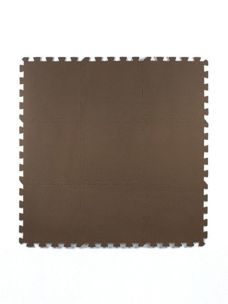 Мягкий пол универсальный Коричневый 33*33 см, 9 дет.