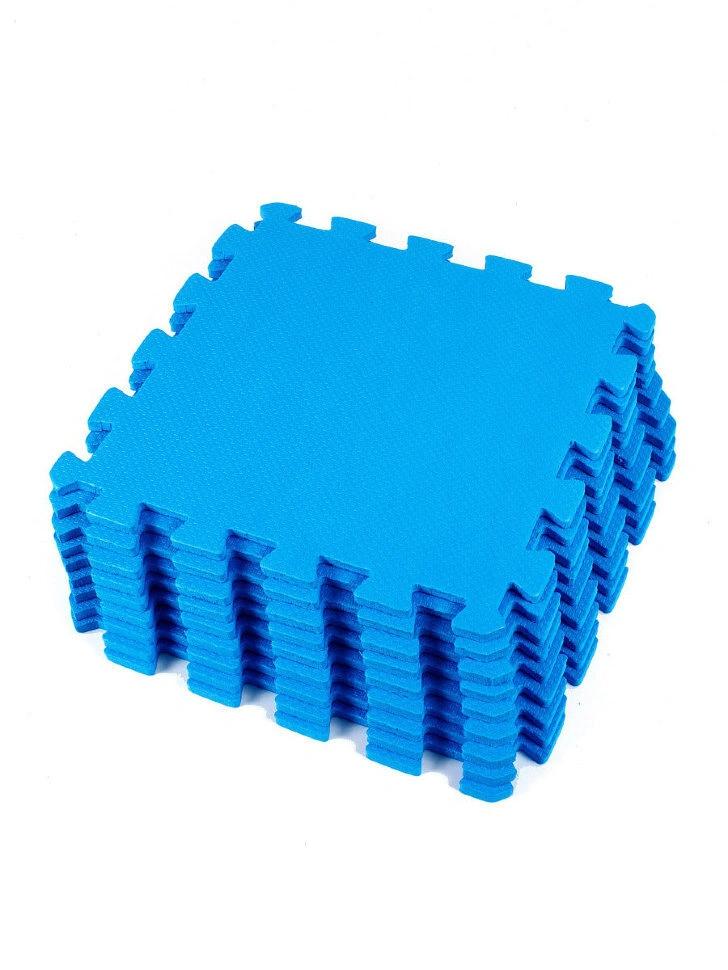 Мягкий пол универсальный Синий 33*33 см, 9 дет.
