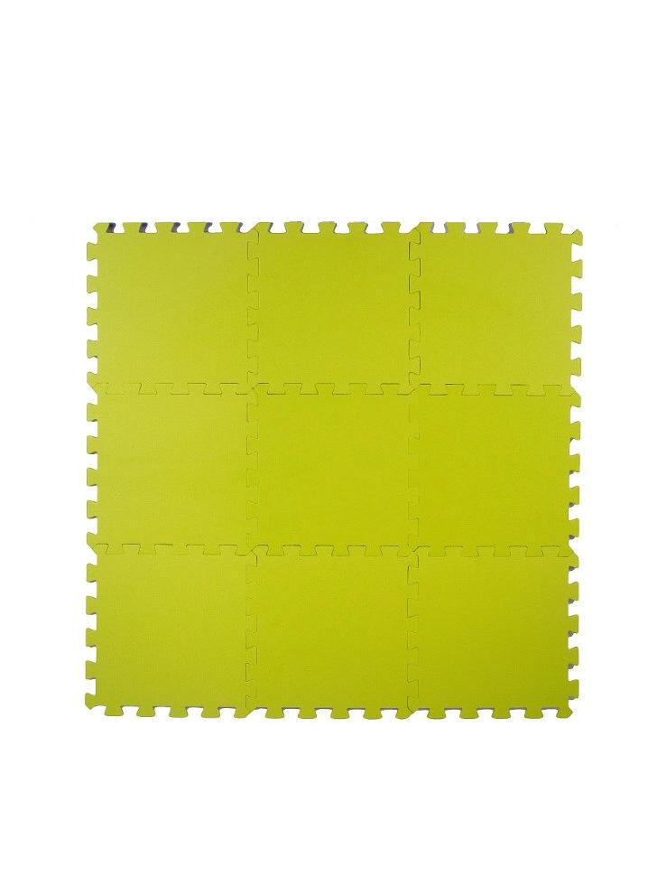 Мягкий пол универсальный Салатовый 33*33 см, 9 дет.