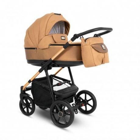 Детские коляски Camarelo Stilo 3 в 1 ST-03, бронзовая рама, бронзовый жаккард-бронзовая экокожа