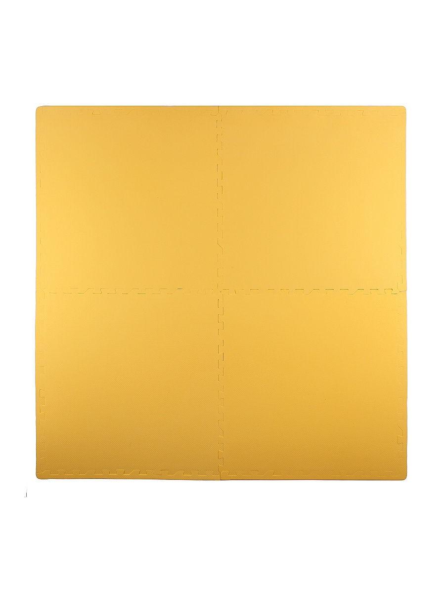 Мягкий пол универсальный 60*60 см, 4 дет., желтый