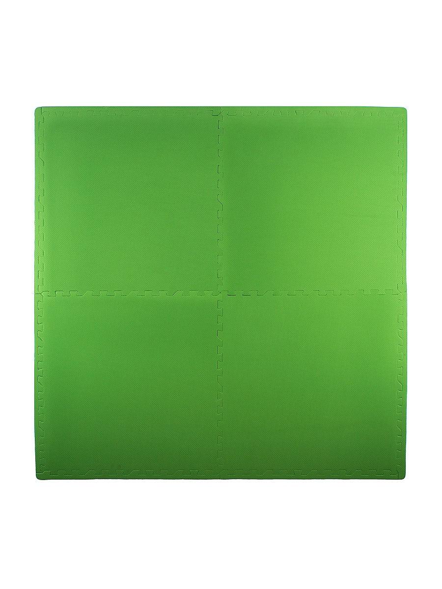 Мягкий пол универсальный 60*60 см, 4 дет., зеленый