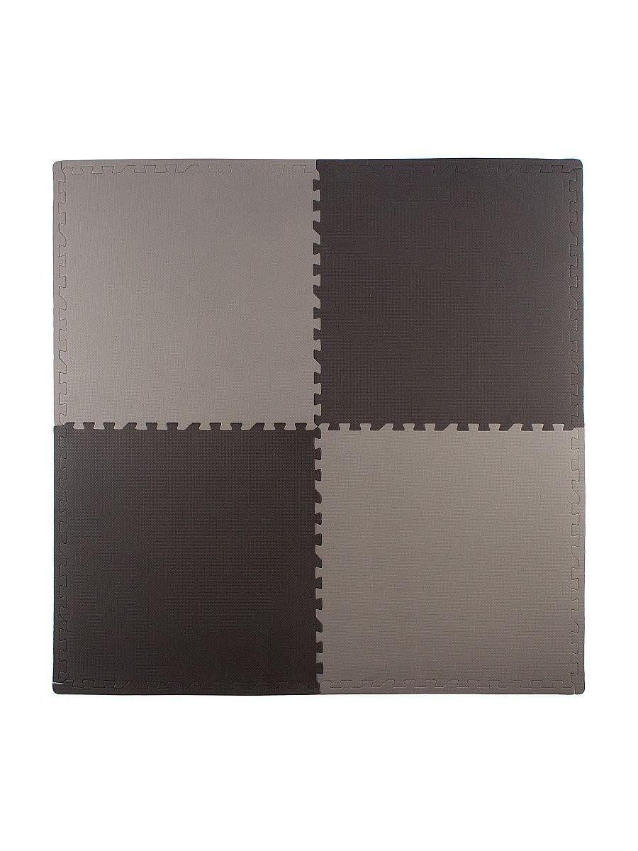 Мягкий пол универсальный 60*60 см, 4 дет., черно-серый