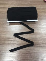 окантовочная резинка-бейка черная матовая