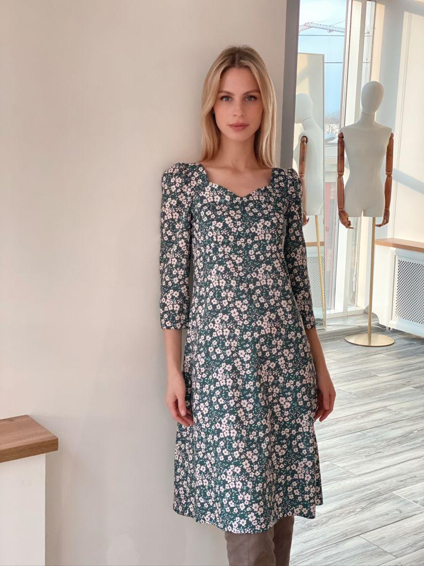 s2947 Платье в ретро-стиле с мелким цветочным принтом