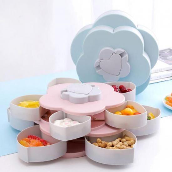 Раздвижная менажница для сухофруктов и конфет Candy Box Pattern Rotating