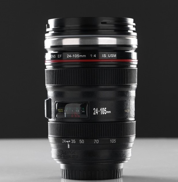 Кружка  в виде объектива от фотоаппарата.
