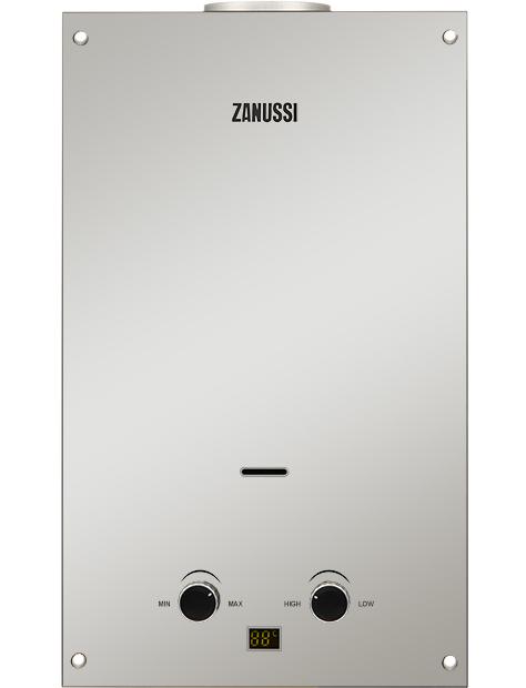 Проточный газовый водонагреватель Zanussi GWH 10 Fonte Glass Mirror (НС-1194435)