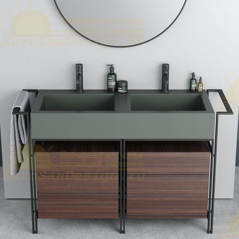 Двойная раковина Cielo Narciso Doppio NALAD накладная на мебель 113х50 ФОТО