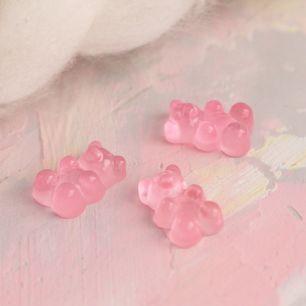 Кукольный аксессуар - Мармеладный мишка розовый 18 мм.