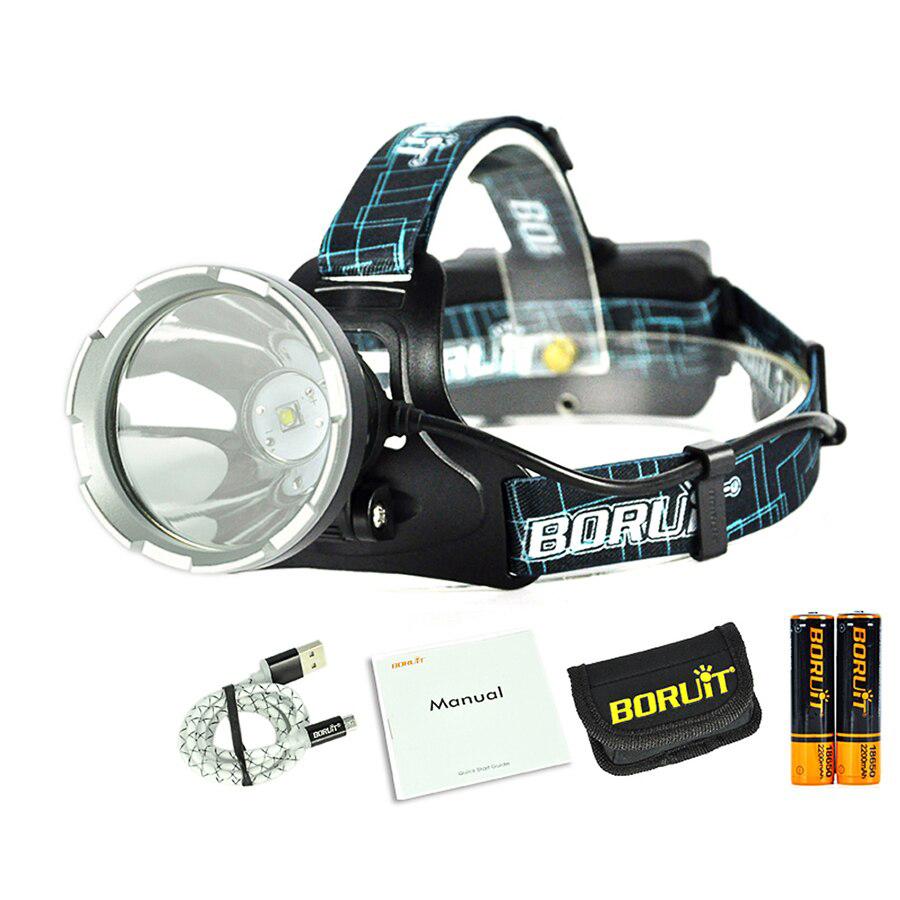 BORUIT B10  фонарь налобный