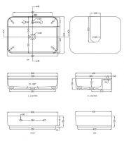 Раковина Cielo Shui Comfort SHCOLARF накладная или подвесная 60х43 схема 1