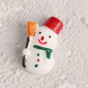 Кукольный аксессуар - Кабошон Снеговичок 3 см