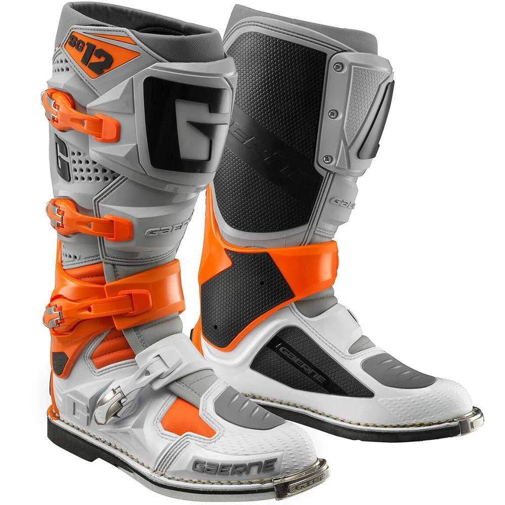 Gaerne SG-12 Orange/Grey/White мотоботы, оранжево-серо-белые