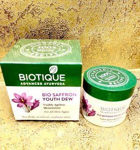 Крем для лица с шафраном (Saffron Youth Dew) Biotique, 50 г
