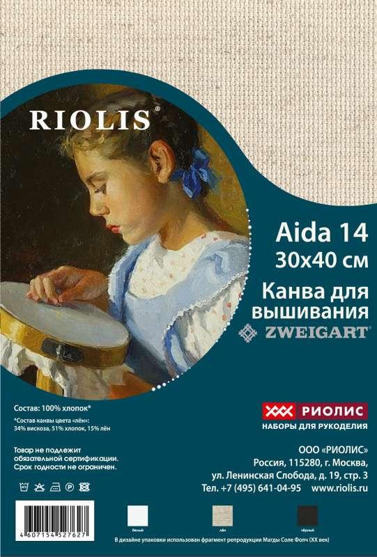 Канва Zweigart Aida 14 в нарезке 30х40 РИОЛИС (КР.30-40.14)