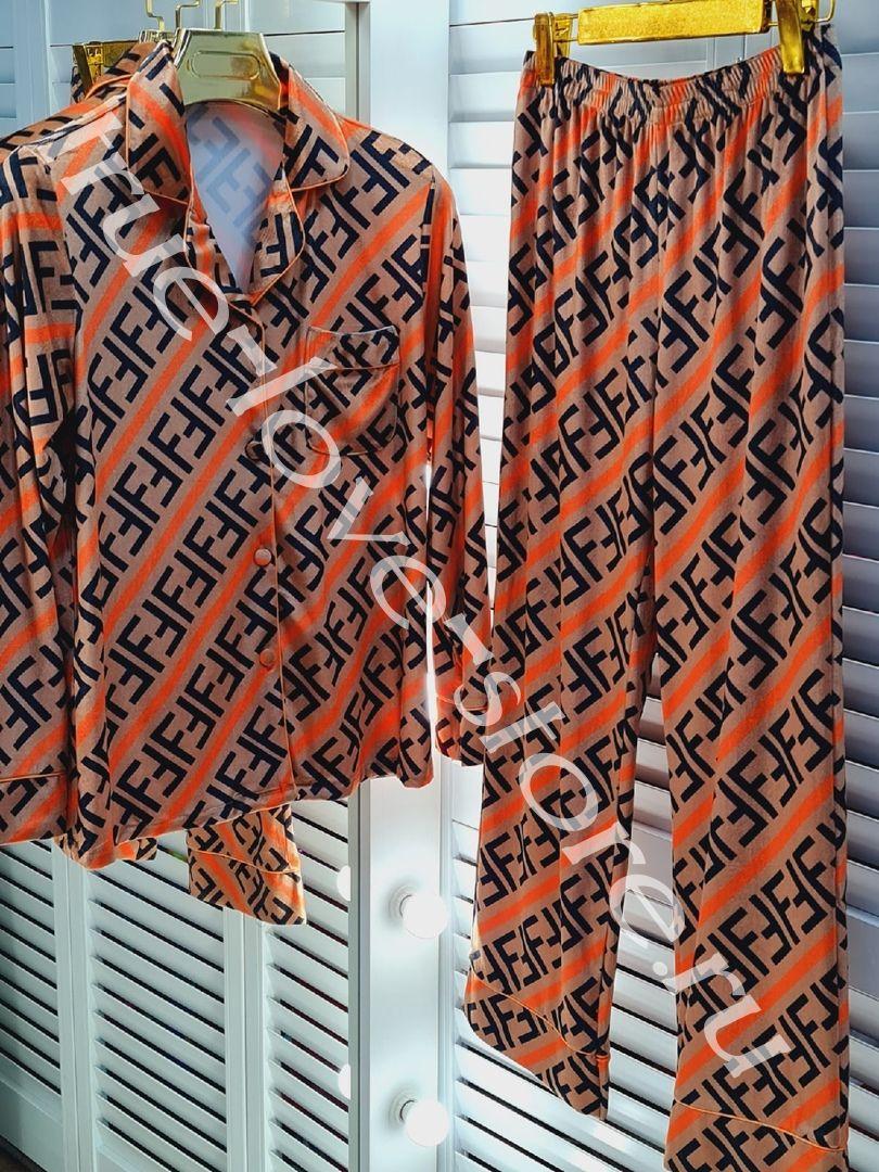 51021- цена за 1 шт,Пижама из бархата FENDY