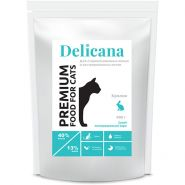 Delicana Сухой корм для стерилизованных кошек и кастрированных котов с кроликом, 8 кг