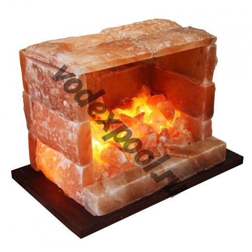 Камин из гималайской соли