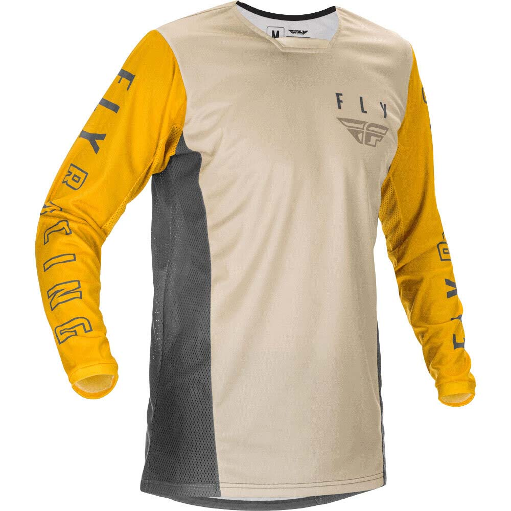 Fly Racing 2021 Kinetic K121 Mustard/Stone/Grey джерси