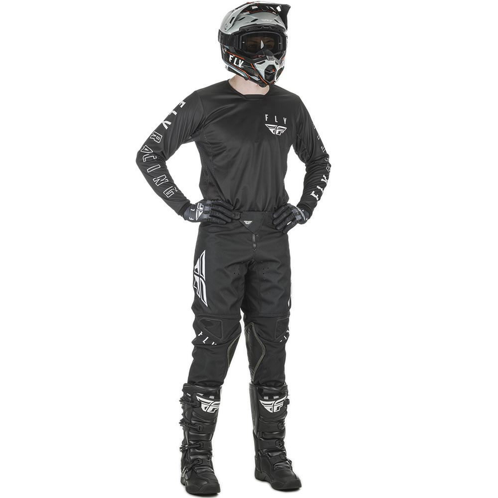 Fly Racing 2021 Kinetic K121 Black/White комплект джерси и штаны