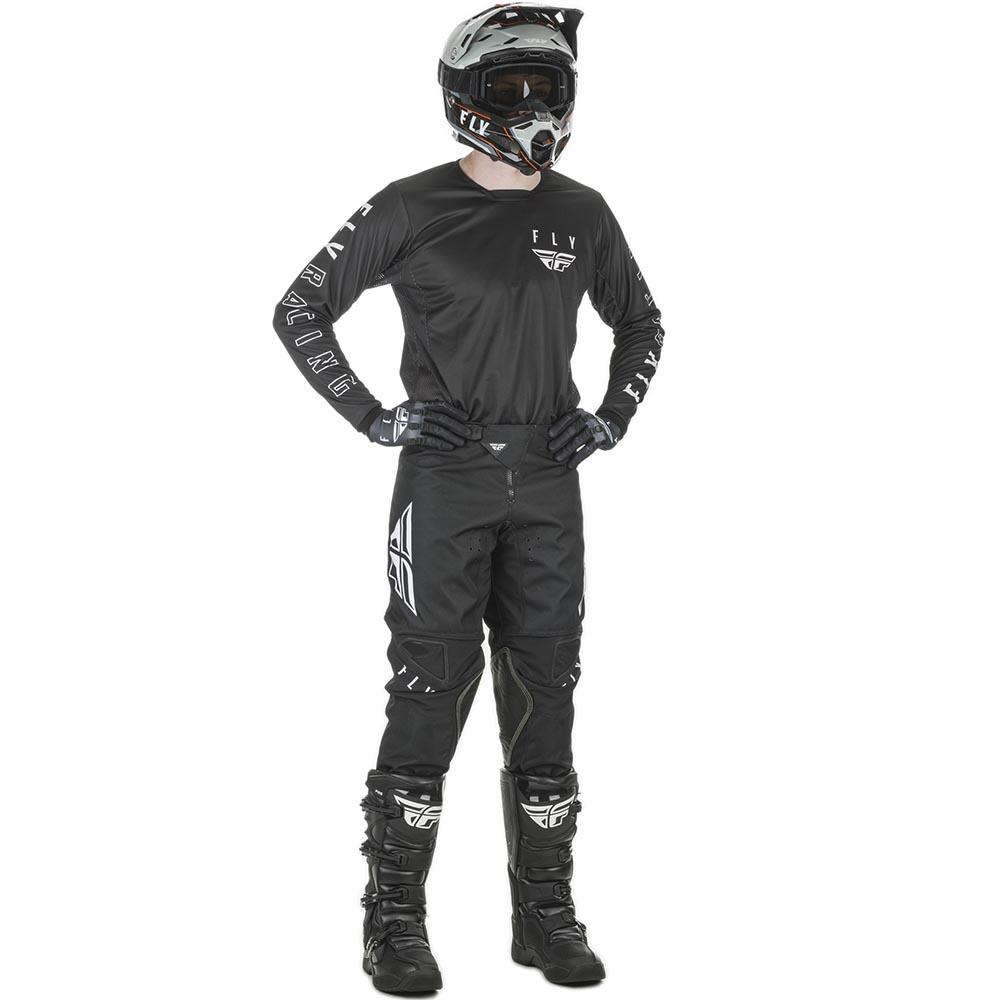 Fly Racing 2021 Kinetic K121 Black/White комплект джерси и штаны