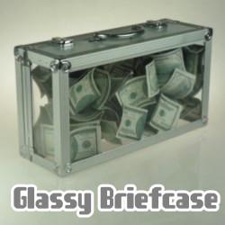 Кейс для появления денег или цветов - Glassy Briefcase