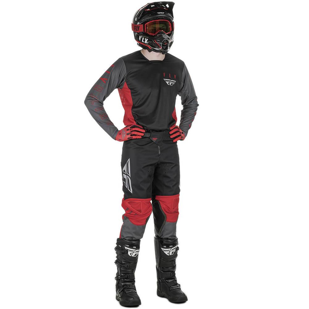 Fly Racing 2021 Kinetic K121 Red/Grey/Black комплект джерси и штаны
