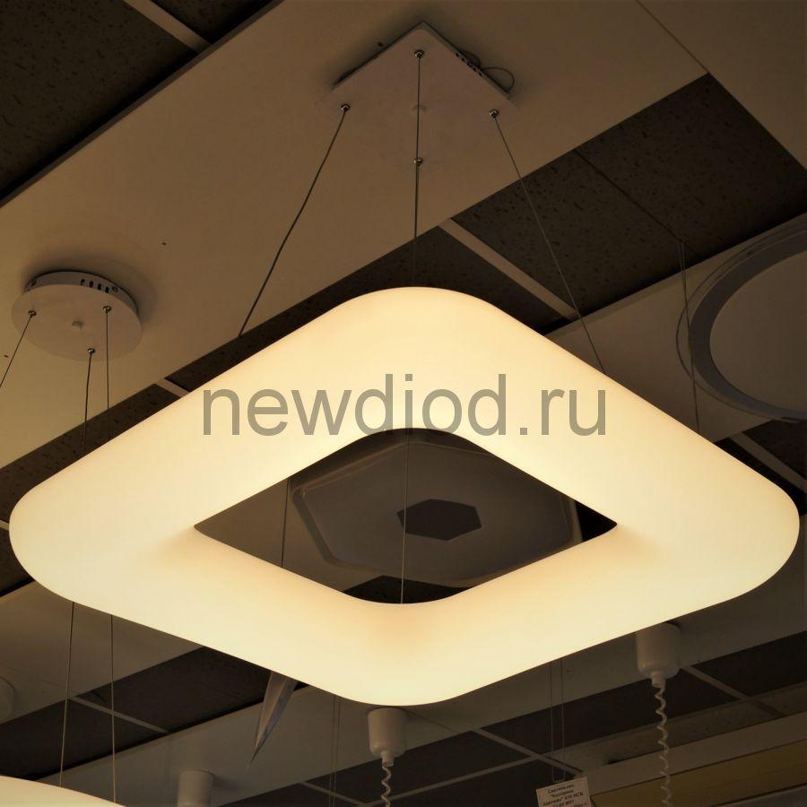 Управляемый подвесной светильник MODERN MD8048-600 КВАДРАТ 50Вт-13м² 5/3/4000К 600*600*1200 Oreol