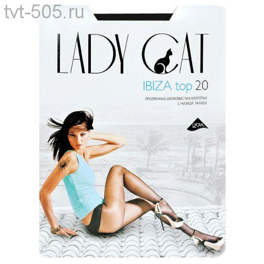 Колготки Lady Cat 20d прозрачные c низкой талией