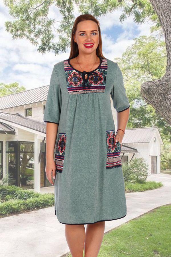 Платье 7021 [оливковый]
