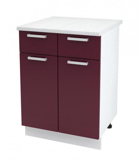 Шкаф нижний с 2 ящиками Джулия ШН1Я 600