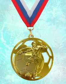 Медаль наградная Гранд за 1 место 70 мм Футбол