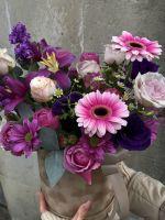 Коробочка с Матиолой и Тюльпанами