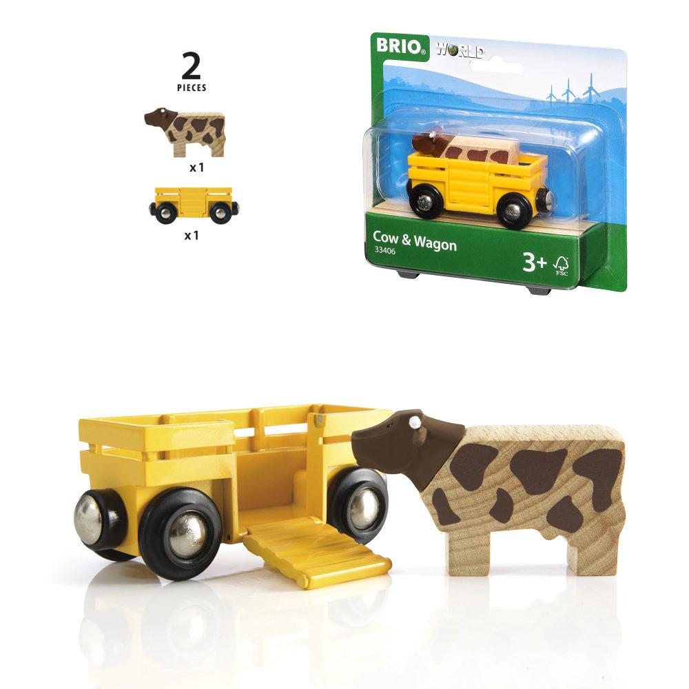 BRIO Вагон с коровой,8,6х3,4х4,8см,блист.