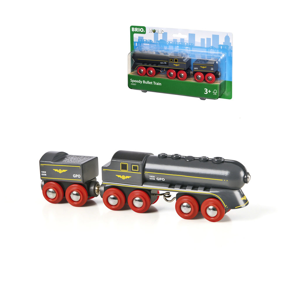 BRIO Скорый поезд, 2 элемента, 19х3,4х5см