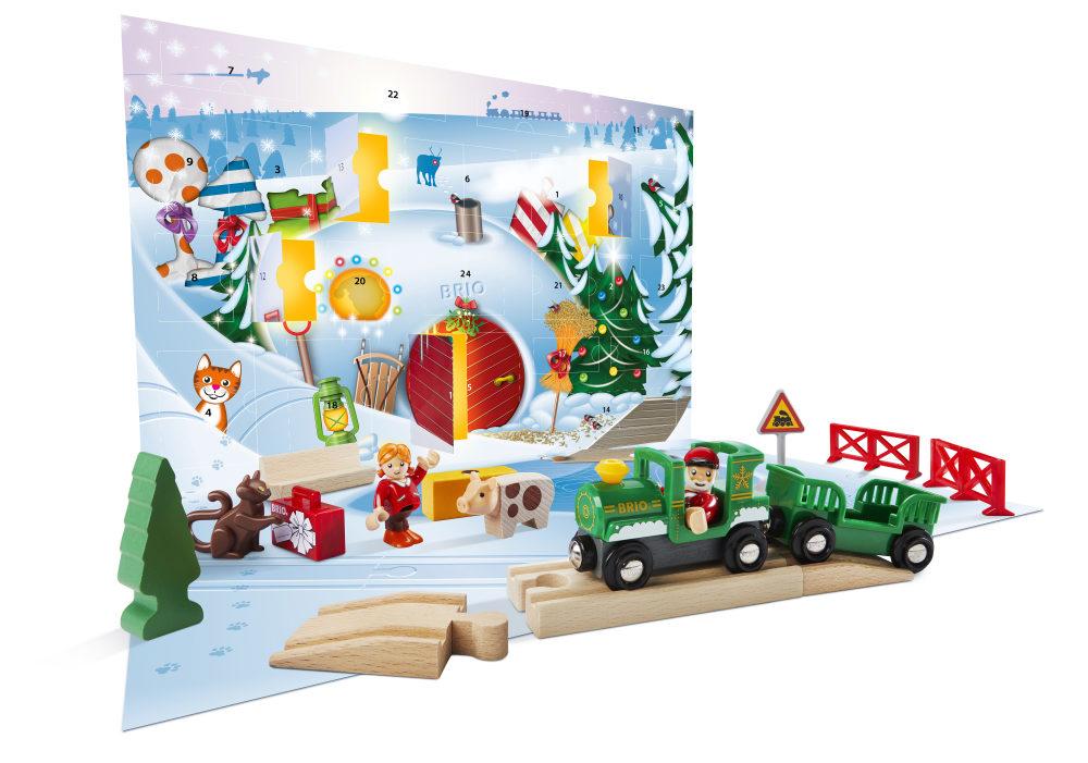 BRIO Рождественский Календарь 2019 (24 элемента), кор. 44х29,5х8 см.