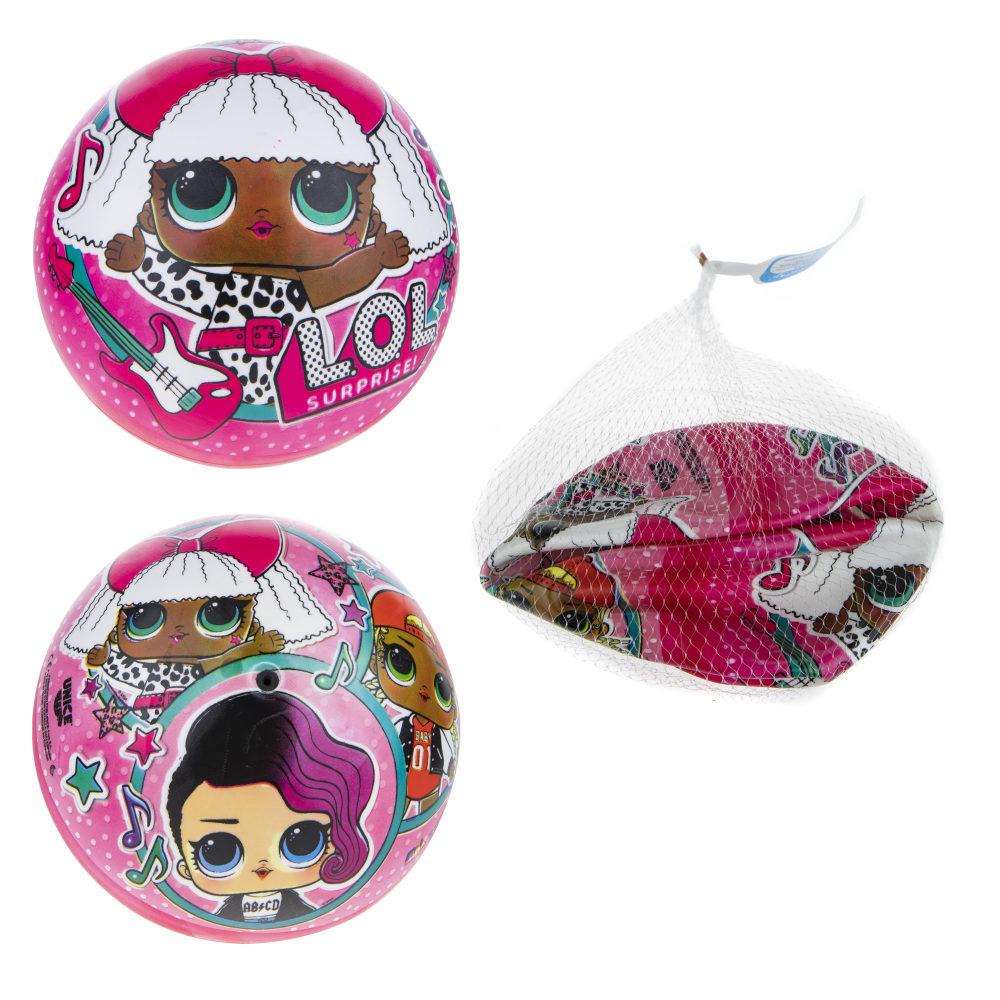 LOL мяч ПВХ, полноцветн, 23 см, 120 г, сетка и бирка