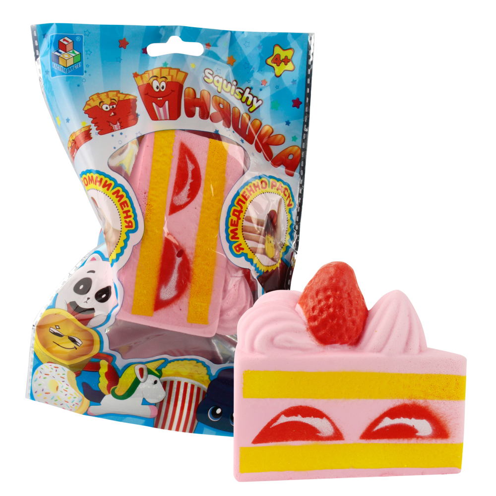 1toy игрушка-антистресс мммняшка squishy (сквиши), мини-кусок торта w:28,6/8,5/8/4