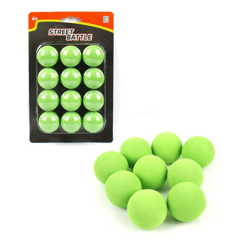 1toy Street Battle Мягкие шарики 3,4 см для игр оружия (12 шт.), блистер