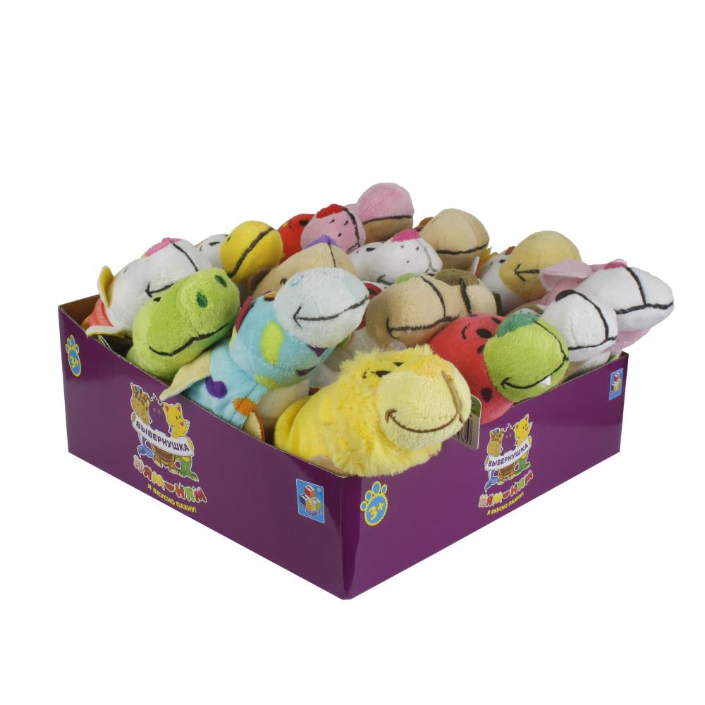 1toy Вывернушка Ням-Ням,плюш.игрушка 2-в-1, 12 см, с ароматами,8 видов,16 шт.в д/б микс
