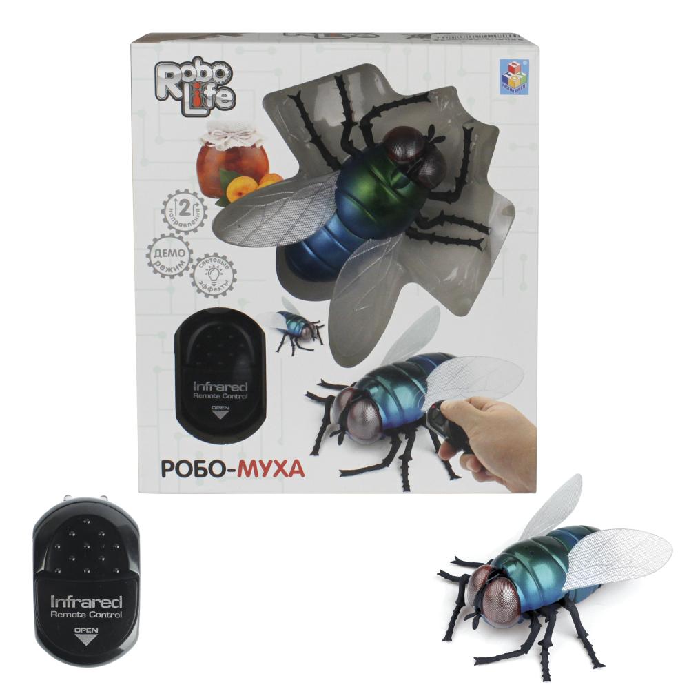 1toy, Робо-муха на ИК управлении, свет эффекты, 6*AG13 бат.(входят в комлпект), 16,5*5,3*18,6